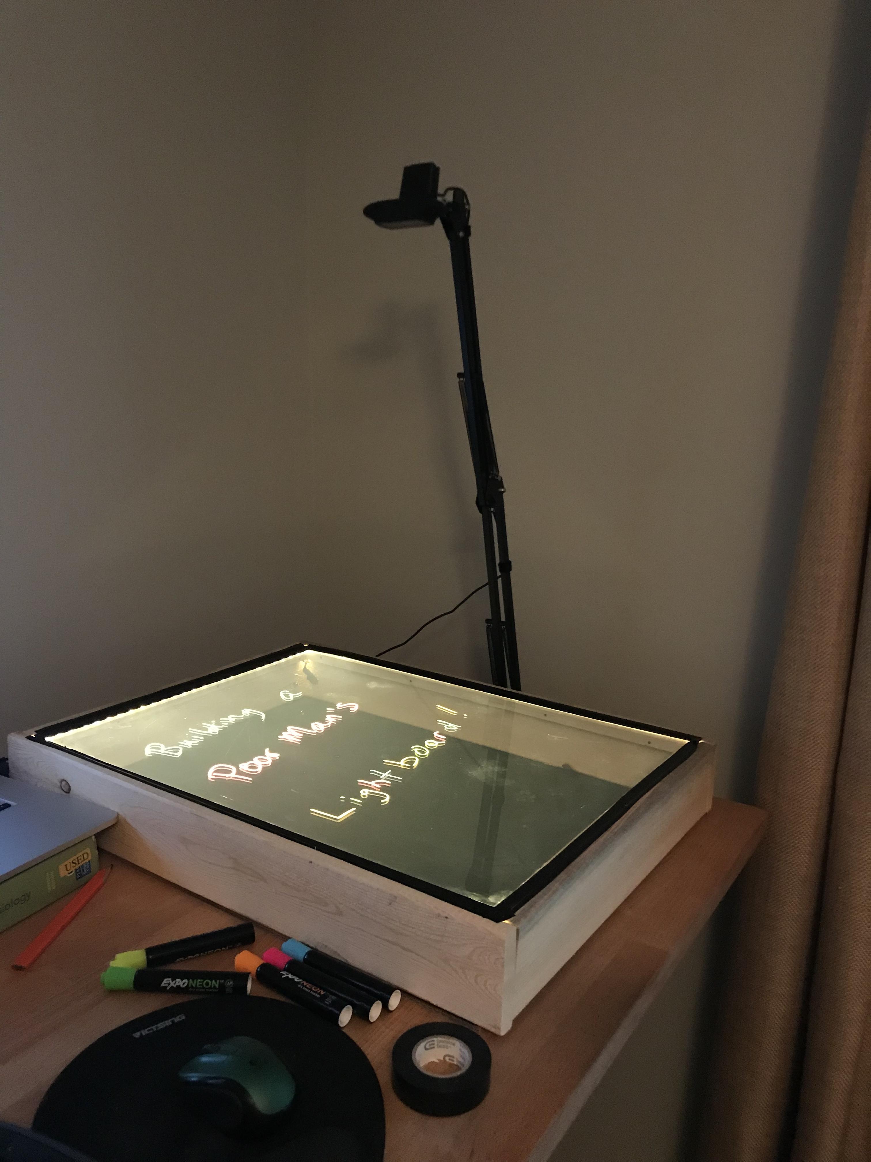 Building a Poor Man's Lightboard – Spencer's Blog